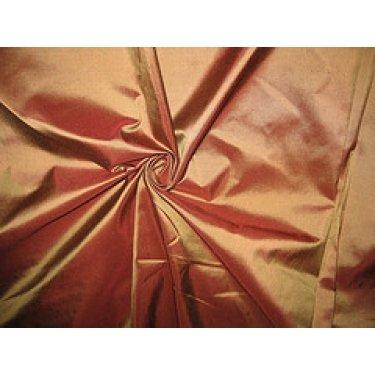 PURE SILK TAFFETA FABRIC CHOCOLATE BROWN WITH GOLD SHOT - Hobbies,Home decor,Sewing,Fashion,Doll Dress,Furnishing,Interior.