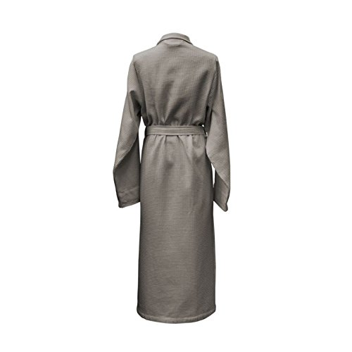 HnL Accappatoio WAFFEL lungo M Taupe Grey