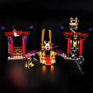 BRIKSMAX Kit di Illuminazione a LED per Lego Ninjago Duello nella Sala del Trono,Compatibile con Il Modello Lego 70651… LEGO NINJAGO LEGO