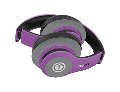 iJoy Matte Rechargeable Wireless Bluetooth Foldable Over Ear Headphones with Mic, EDM by iJoy (Image #1)