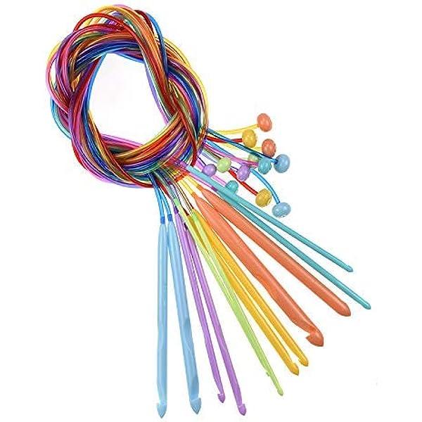 27cm Aluminum Tunisian Crochet Hooks Crochet Sweater Needles 11size//Set 10316850
