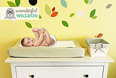 Panda Pads PREMIUM - TRIPLE LAYER - REVERSIBLE Bamboo Changing Pad Liners - Waterproof 3-pack - Certified and Tested - Machine Wash & Dry - Double the quality for your baby at diaper changing time