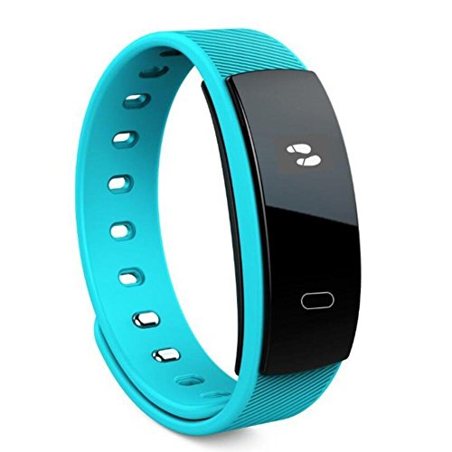 DACHUI Activity Tracker Smart Sports Armband Pedometer Heart rate pulse invites the information memories of physical movement, blue color by DACHUI