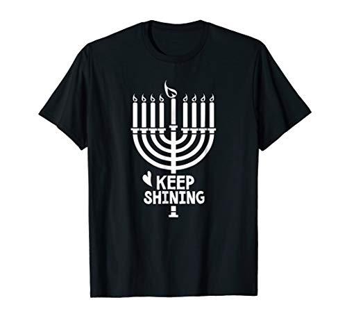 Free To Be Kids Keep Shining Hanukkah Shirt, Menorah ()