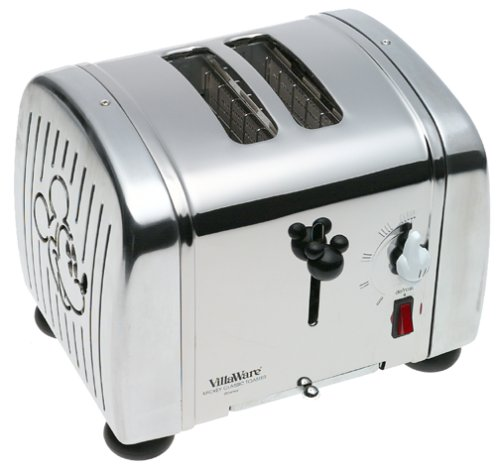 VillaWare V5555-07 Mickey's Classic Toaster, 2-Slice by Villaware