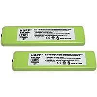 HQRP 2-Pack Battery Sony NC-5WM, NC-6WM, WM-701C, 1-528-231-11, WM-RX707, WM-F100, WM-FX675 + HQRP Coaster