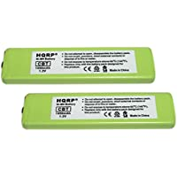 HQRP 2-Pack Battery for Sony NC-5WM, NC-6WM, WM-701C, 1-528-231-11, WM-RX707, WM-F100, WM-FX675 + HQRP Coaster