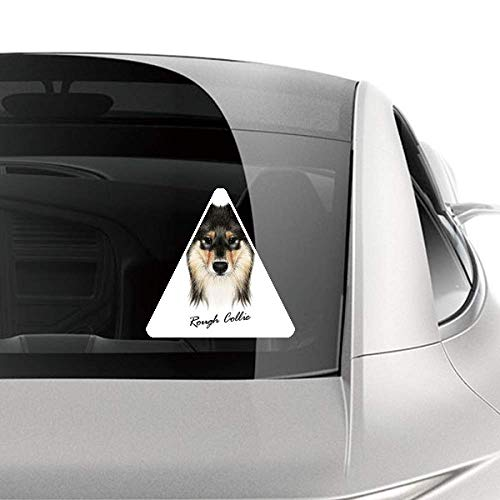 (DIYthinker Long-haired Rough Collie Pet Animal Car Sticker Motorcycle Bicycle Styling Decal)