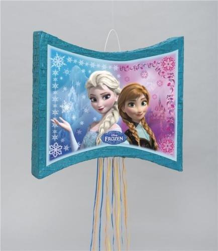 Unique Disney Frozen Party Pull String Flat (Disney Frozen Olaf Pinata)