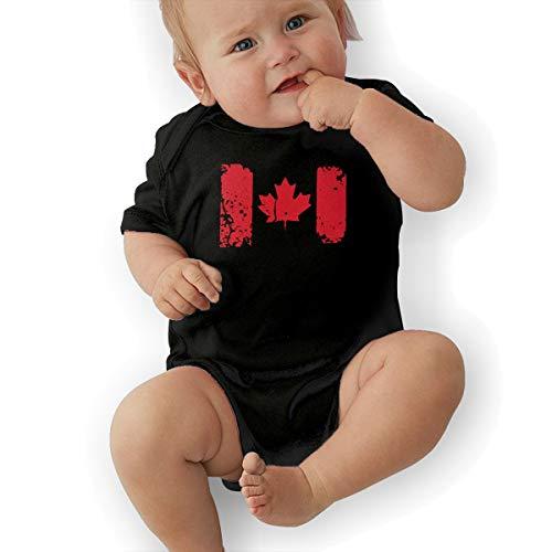 Dutchi Canada Flag Unisex Fashion Newborn Baby Romper Baby GirlVest 40 Black]()