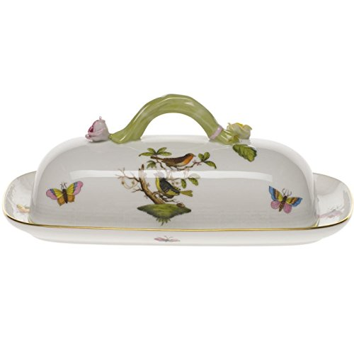 Herend Rothschild Bird Covered Butter Dish With Branch by Herend (Image #1)