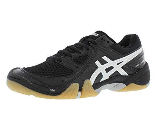 ASICS Women's Gel Dominion Volley Ball Shoe,Black/Silver/White,7.5 M US (Asics Gel Domain)