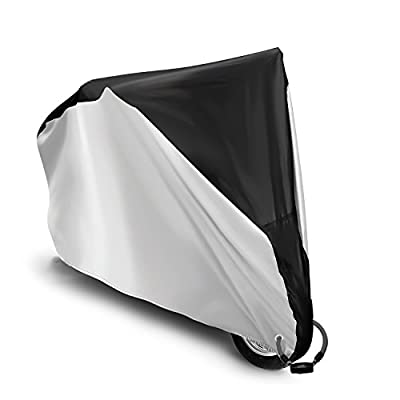 Amagoing Bike Cover Waterproof Bicycle Cover Dust Wind Proof Rain Sun UV Cover Protector with One Bike Lock For Bicycle Bike Indoor Outdoor Protection