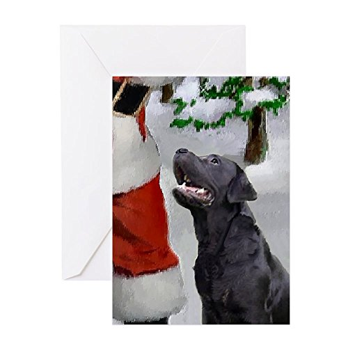 CafePress Labrador Retriever Christmas Greeting