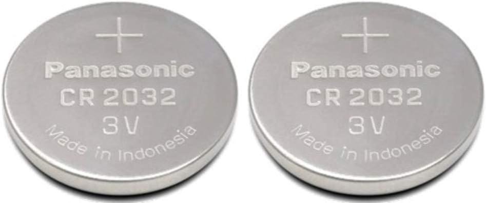 Panasonic CR2032 3V Lithium Coin Battery (Pack of 2)