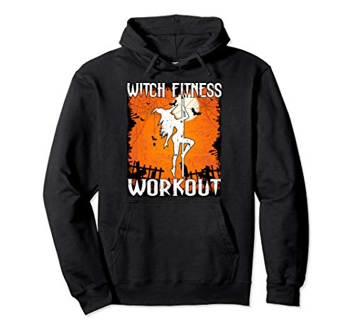 Witch Fitness Workout Funny Halloween Pullover Hoodie