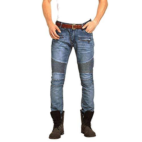 Hombres Clásicos Ajuste Los Blau Delgados Elástico Tamaños Mirada Denim Motorista Cómodos Ideal del Vaqueros Ropa Pantalones Desgastado Hombres Estilo xXYqdXIU