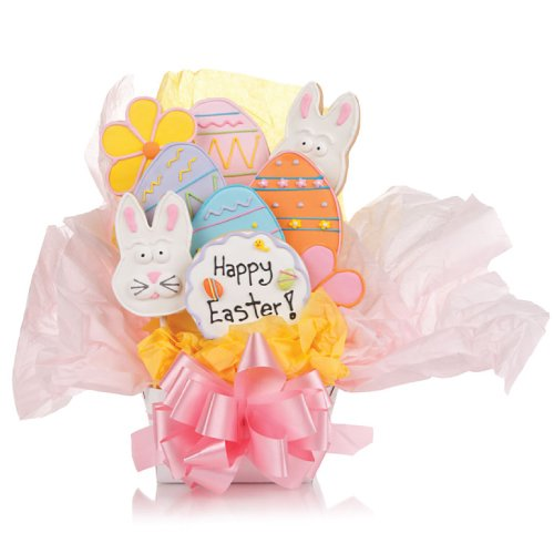 Cookie Bouquet Gift Basket - Easter Cookie Bouquet -7 Cookies