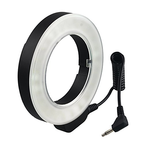 Zehui Professional Photography Lights 48 LED Ring Light with 6 Adapter Rings for Canon Sony Nikon Sigma Lenses