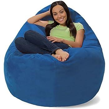 Amazon Com Comfy Sacks Huge Pillow Memory Foam Bean Bag