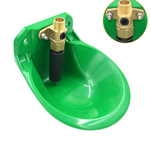 Automatic Stock Waterer Livestock Water Feeder Cattle Sheep Animal Drinker Bowl (Dog Oval Feeder)
