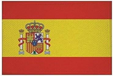 U24 Parche termoadhesivo con la bandera de España, 9 x 6 cm: Amazon.es: Coche y moto