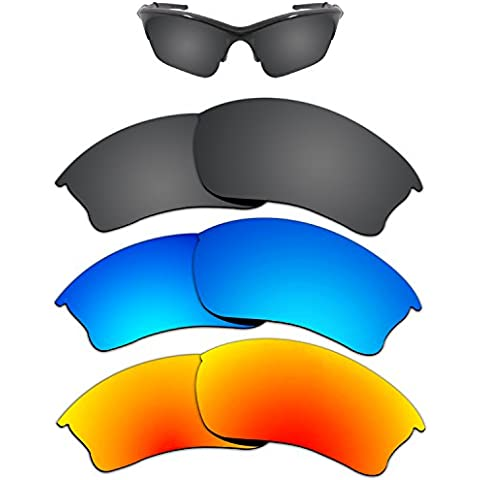 2835a962455 Kygear Replacement Lenses Different Colors for Oakley Half Jacket XLJ Sunglass  Polarized Pack of 3