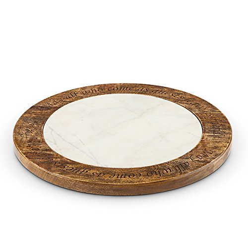 Antiquity Marble Wood Lazy Susan by GG Collection