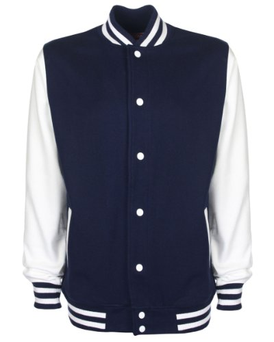 Unisex Maniche Navywhite College Con Giacca Contrasto A 0xBX4qwff