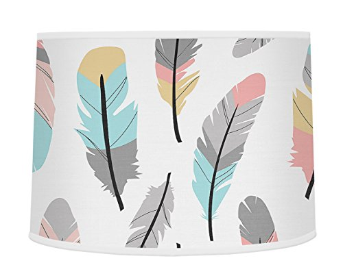 Sweet Jojo Designs Multicolored Feather Print Girls Baby Childrens Lamp Shade for Feather Collection from Sweet Jojo Designs