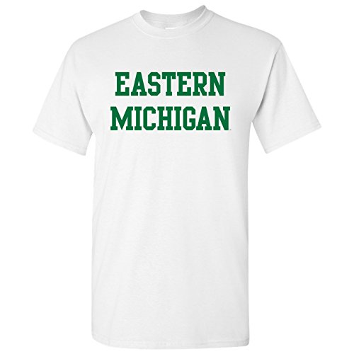 - Eastern Michigan Eagles Basic Block T-Shirt - Medium - White