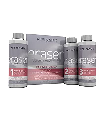 Amazon.com : AFFINAGE ERASER HAIR COLOUR DYE TINT REMOVER STRIPPER by  Affinage : Beauty