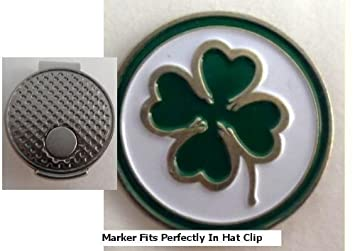 Four Leaf Clover Golf Ball Marker w  Silver Hat Clip  Amazon.co.uk ... 83c8392ce914