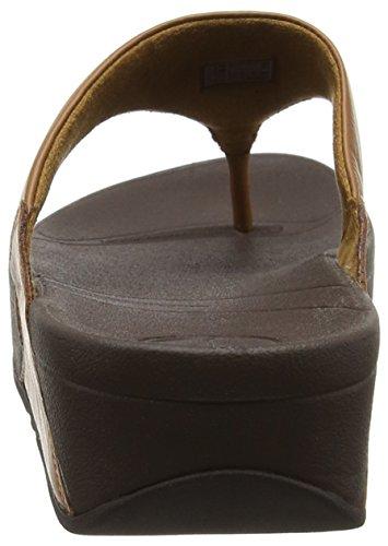 Fitflop Lulu - Sandalias de dedo de cuero para mujer Marrón