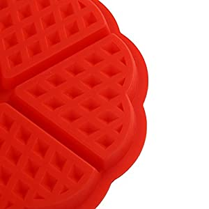 DierCosy Silicone Waffle Baking Molds Heart Cake Muffin Mould Red Bakewar Kitchen Tool