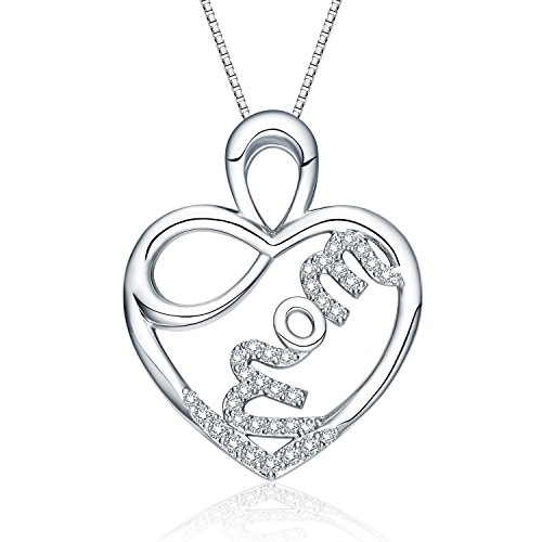 NUMMY Always My Mother Forever My Friend Engraved Pendant Necklace for Women (18¡± Adjustable) - Silver Crystal Pendant w/Luxury Gift Box (Mom in My Heart)