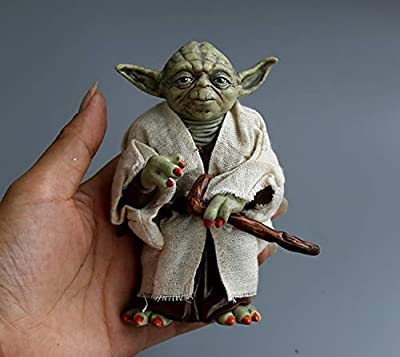 Rose Rock Star War Yoda Action Figure Toy 12cm with Detachable Clothes Movable Arms