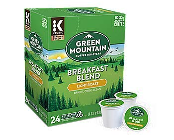 Green Mountain Coffee Roasters Breakfast Blend, Single Serve Coffee K-Cup Pod, Light Roast, 72 by GREEN MOUNTAIN COFFEE ROASTERS (Image #1)