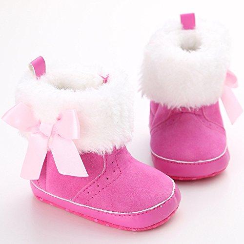 Leap Frog  Mid Culf Snow Boots, Baby Mädchen Krabbelschuhe & Puschen, rot - rose - Größe: 6-12 Monate