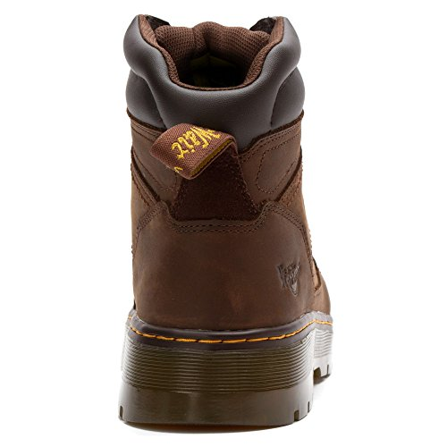 Dark Toe Duct Dr 8 Eye Steel Boot Toe Brown Lace Martens To Men's qxpEP0