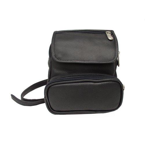 piel-leather-travel-waist-bag-organizer-black-one-size