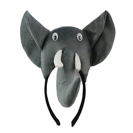 TOOGOO(R) Banda de cabeza de elefante 3D Granja de animales Mascara de disfraz