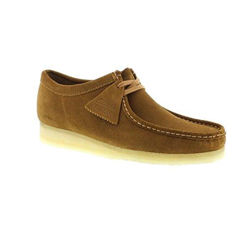 clarks-originals-mens-wallabee-cola-suede-brown-mens-shoes-14-us