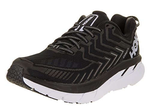 HOKA ONE ONE Women's Clifton 4 Black/White Running Shoes