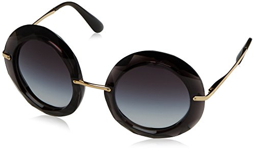Dolce & Gabbana Women's Injected Woman Round Sunglasses, Transparent Gray, 50 - Dolce Sunglasses And Gabbana Flowers