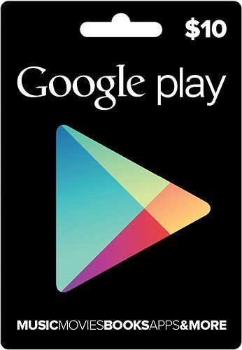 $10 Google Play Gift Card