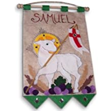 First Communion Banner Kit - 9 x 12 - Lamb - Green