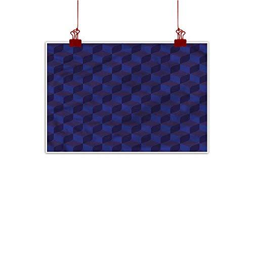 Mangooly Fabric Cloth Rolled Indigo,Indigo 3D Paint Cubes 28
