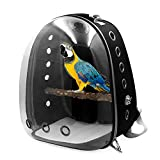 Legendog Pet Backpack for Pets Parrots Creative Space Capsule Breathable Bird Carrier Tool