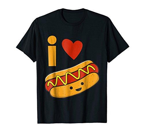 I Love Hot Dog Shirt -